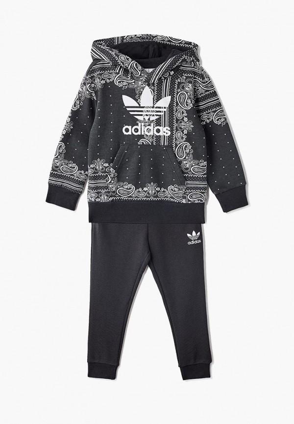 Купить Костюм спортивный adidas Originals, adidas Originals AD093EBEDUQ2, черный, Весна-лето 2019