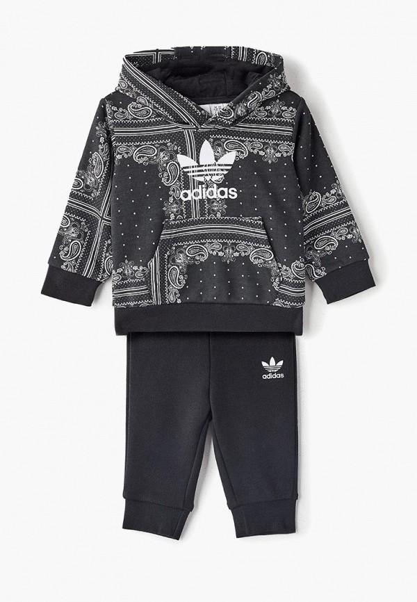 Купить Костюм спортивный adidas Originals, adidas Originals AD093EBEDUQ6, черный, Весна-лето 2019