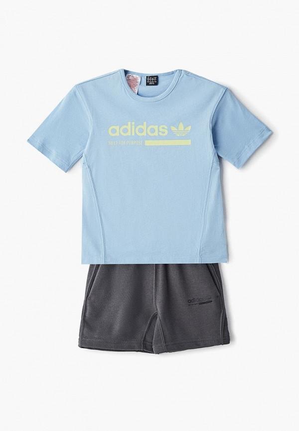 Купить Костюм спортивный adidas Originals, adidas Originals AD093EBEDUQ7, голубой, серый, Весна-лето 2019