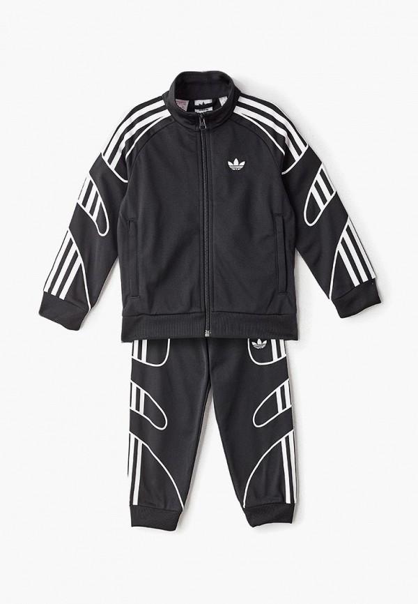 спортивные спортивный костюм adidas для мальчика, черный