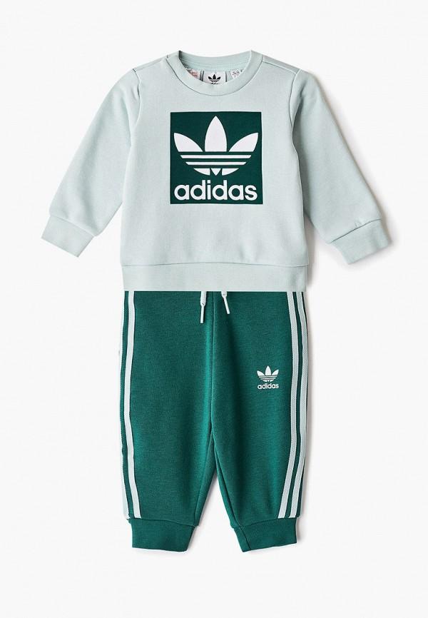 спортивный костюм adidas для мальчика, зеленый