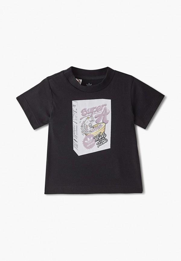 футболка adidas для мальчика, черная