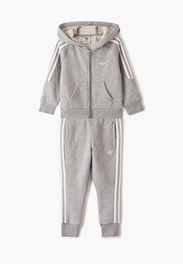 спортивный костюм adidas для мальчика, серый