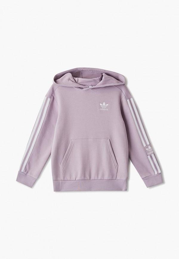 худи adidas для мальчика, фиолетовые