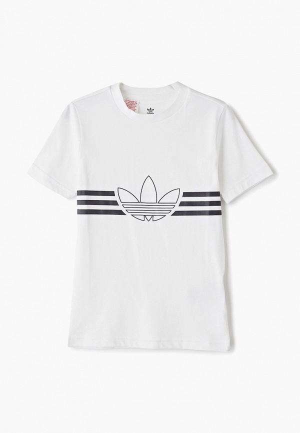 Купить Футболку adidas Originals белого цвета