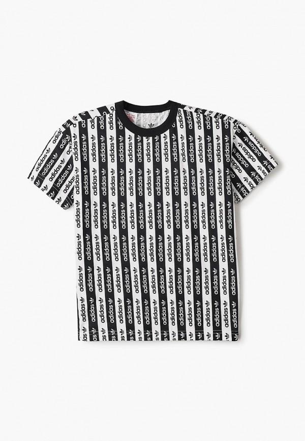 футболка adidas для мальчика, разноцветная