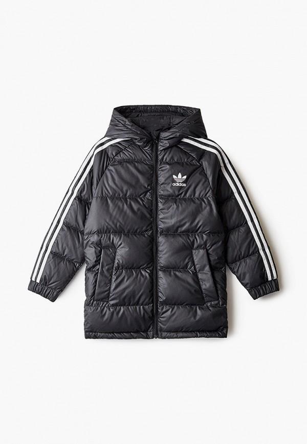 пуховик adidas для мальчика, черный