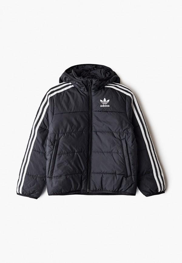куртка adidas для мальчика, черная