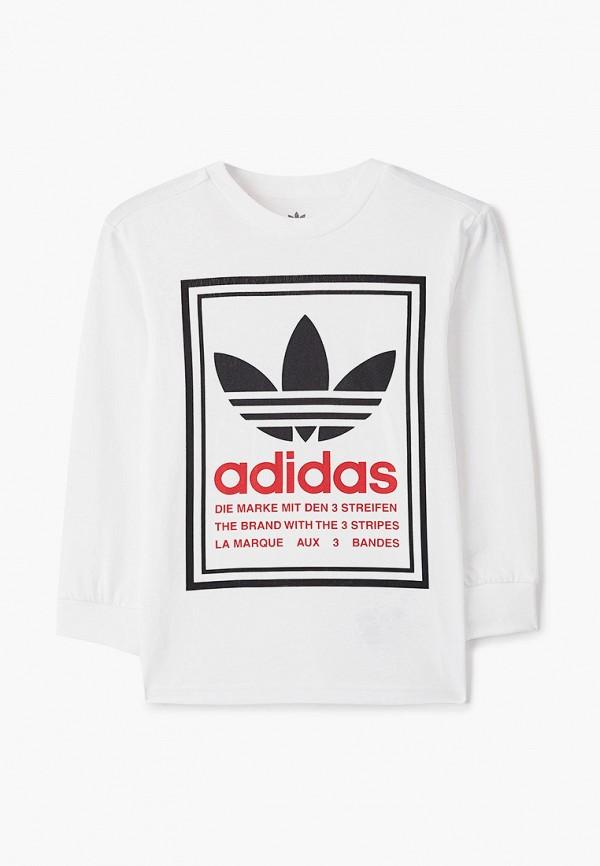 лонгслив adidas для мальчика, белый