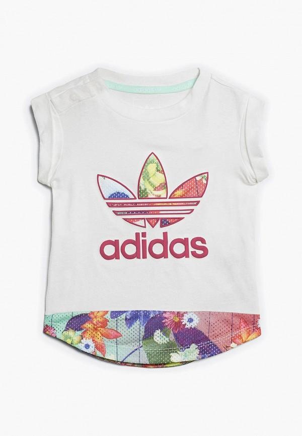 Купить Футболка adidas Originals, adidas Originals AD093EGALQK6, белый, Весна-лето 2018