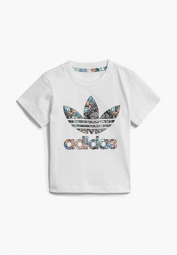 Купить Футболка adidas Originals, adidas Originals AD093EGCCZN1, белый, Осень-зима 2018/2019