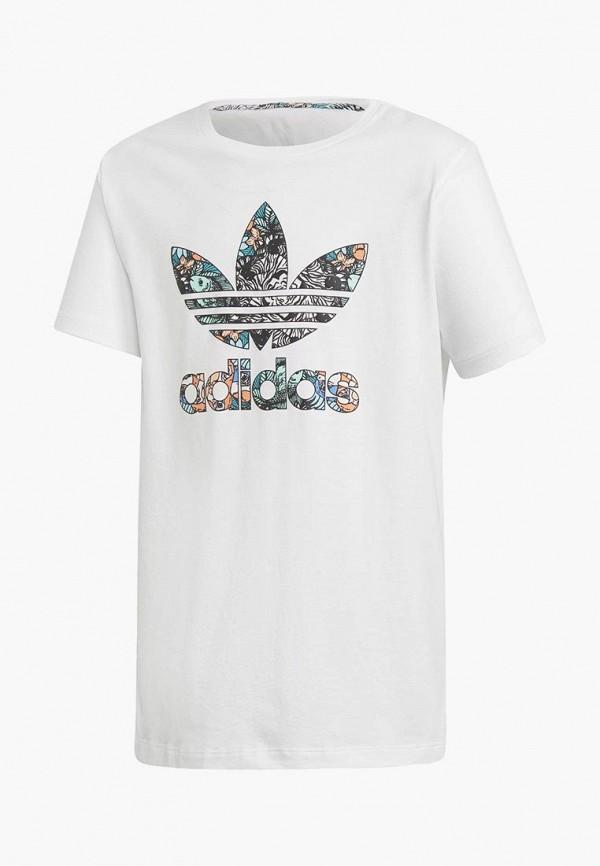 Купить Футболка adidas Originals, adidas Originals AD093EGCCZN3, белый, Осень-зима 2018/2019
