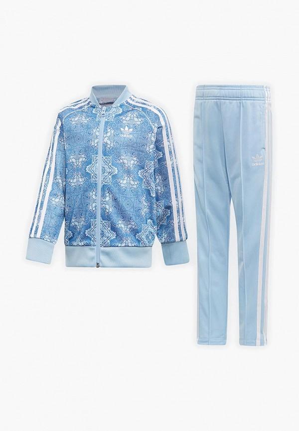 Купить Костюм спортивный adidas Originals, adidas Originals AD093EGEDUO4, голубой, Весна-лето 2019