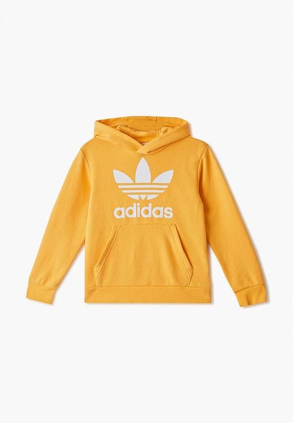 худи adidas для девочки, желтые