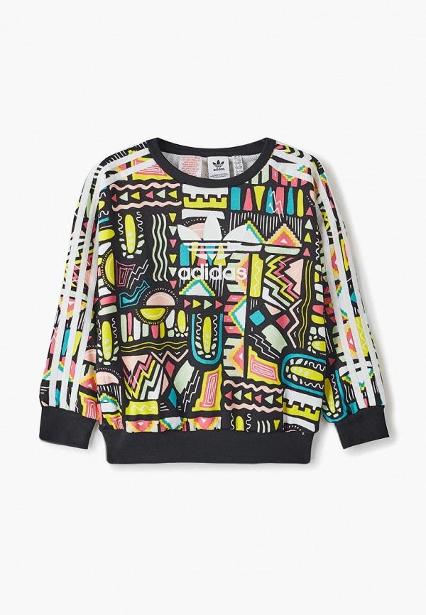 свитшот adidas для девочки, разноцветный
