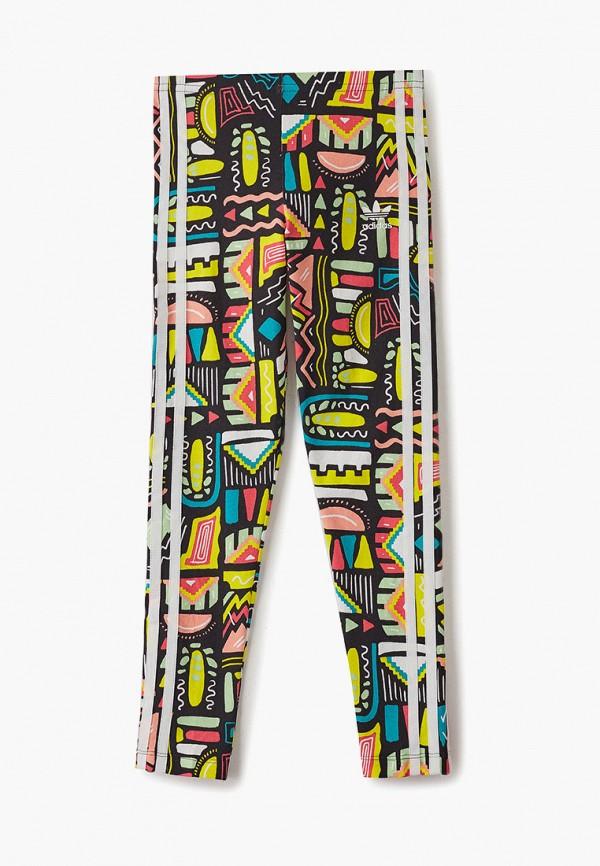 леггинсы adidas для девочки, разноцветные
