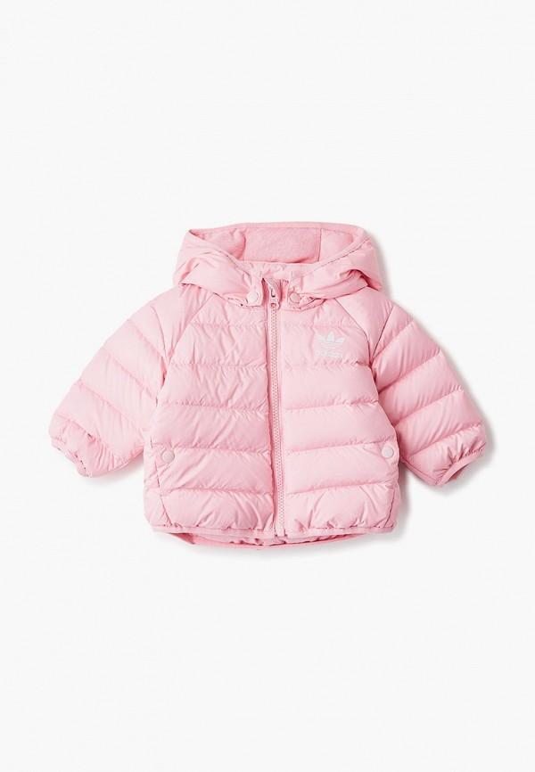 пуховик adidas для девочки, розовый