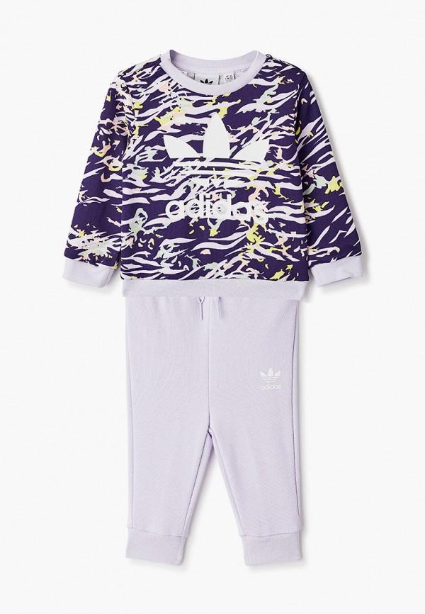 спортивный костюм adidas для девочки, фиолетовый