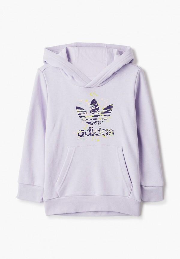 худи adidas для девочки, фиолетовые