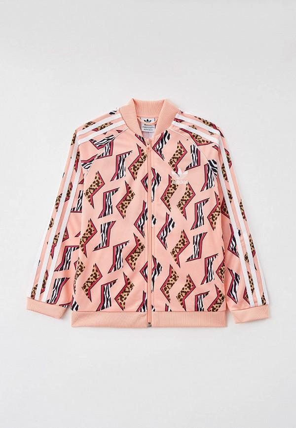 олимпийка adidas для девочки, розовая