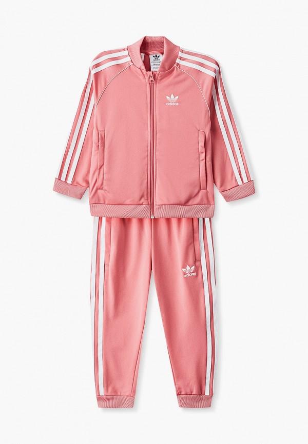 спортивный костюм adidas для девочки, розовый