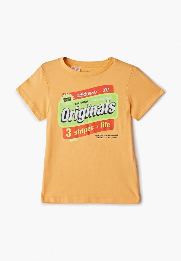 футболка adidas малыши, оранжевая