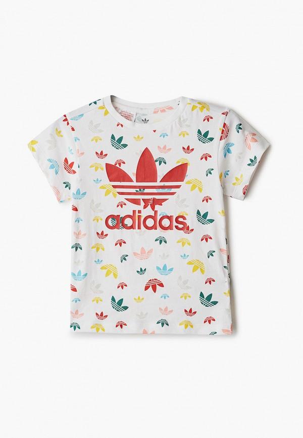 футболка adidas малыши, белая