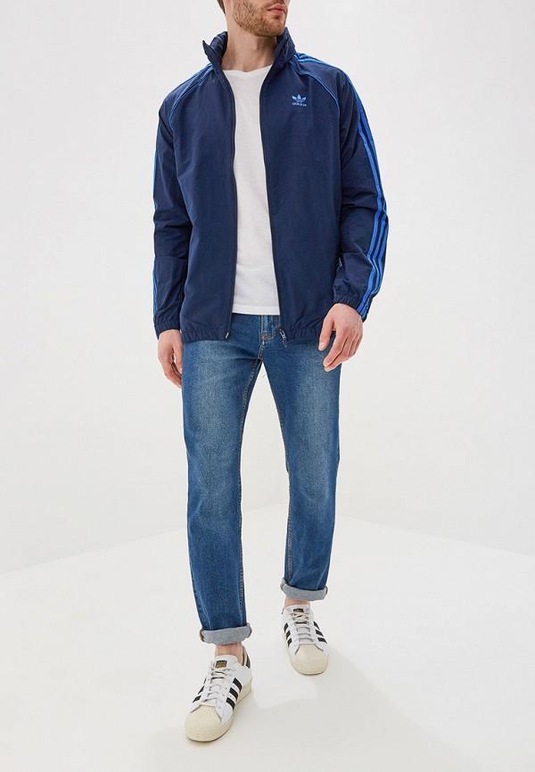 Фото 2 - Ветровка adidas Originals синего цвета