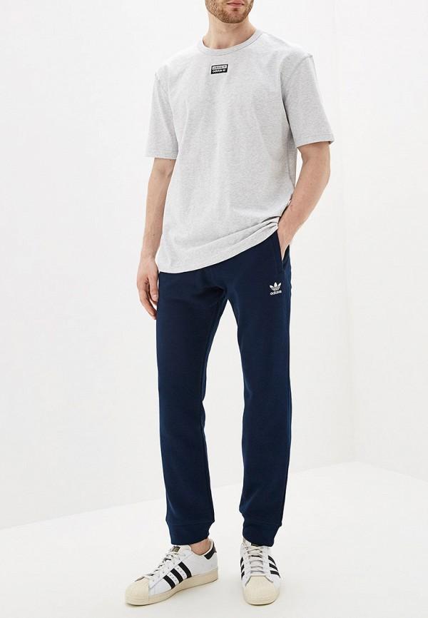 Фото 2 - Брюки спортивные adidas Originals синего цвета