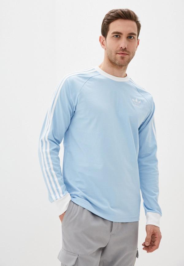 мужской лонгслив adidas, голубой