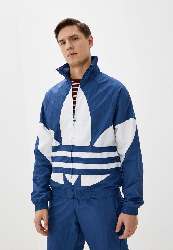 мужская ветровка adidas, синяя