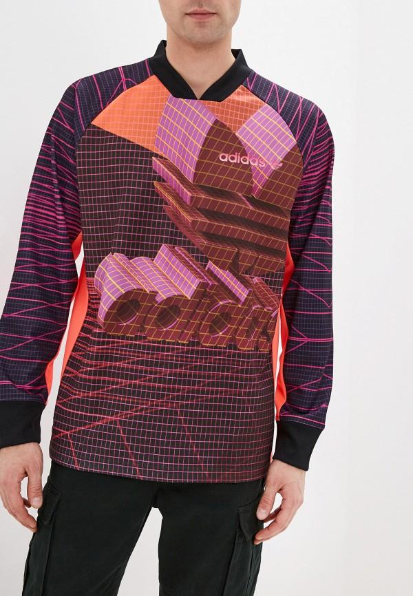 мужской лонгслив adidas, разноцветный