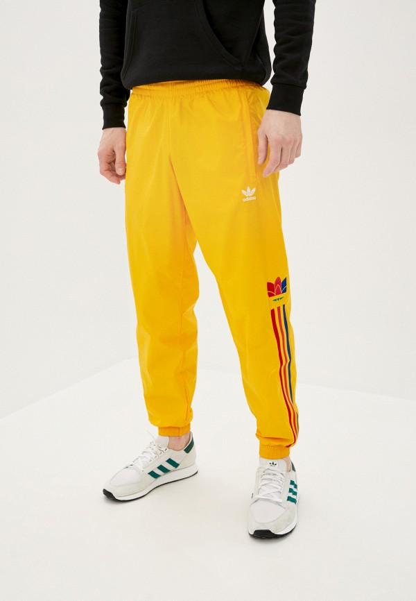 мужские спортивные брюки adidas, желтые