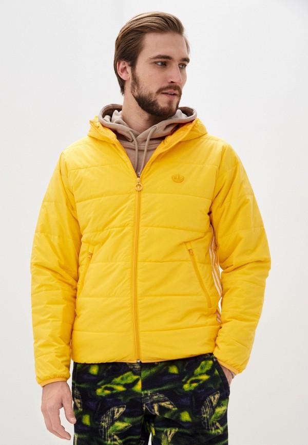 мужская куртка adidas, желтая