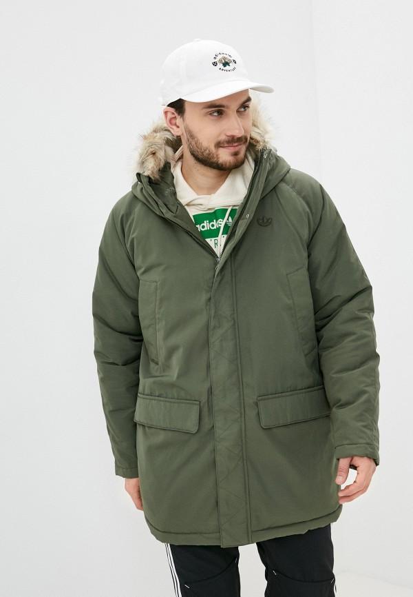 мужская спортивные куртка adidas, хаки