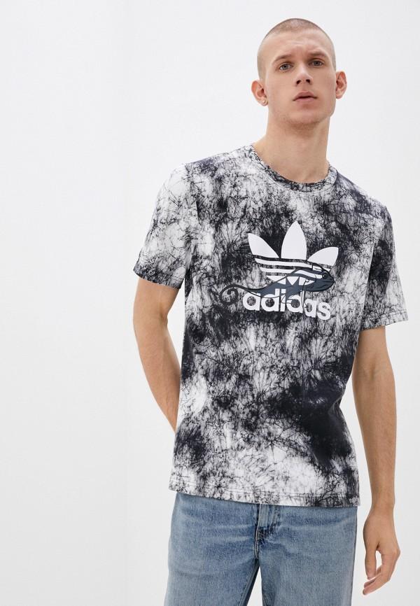 мужская спортивные футболка adidas, серая