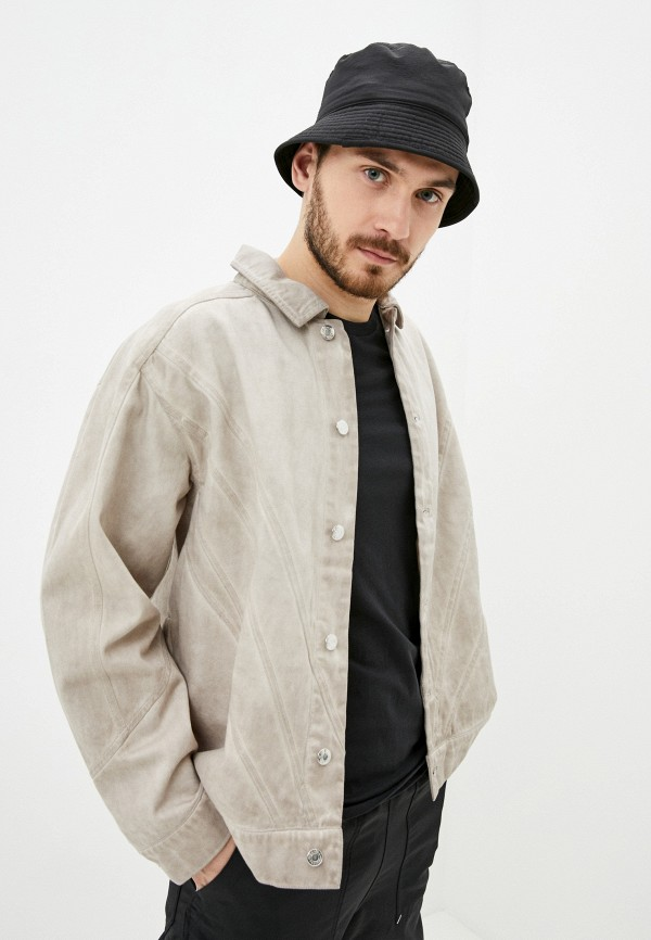 мужская куртка adidas, бежевая