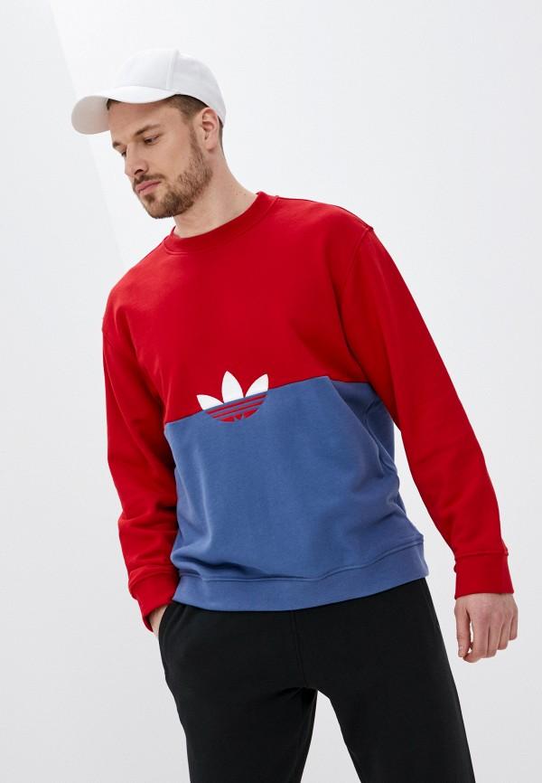 мужской спортивные свитшот adidas, разноцветный
