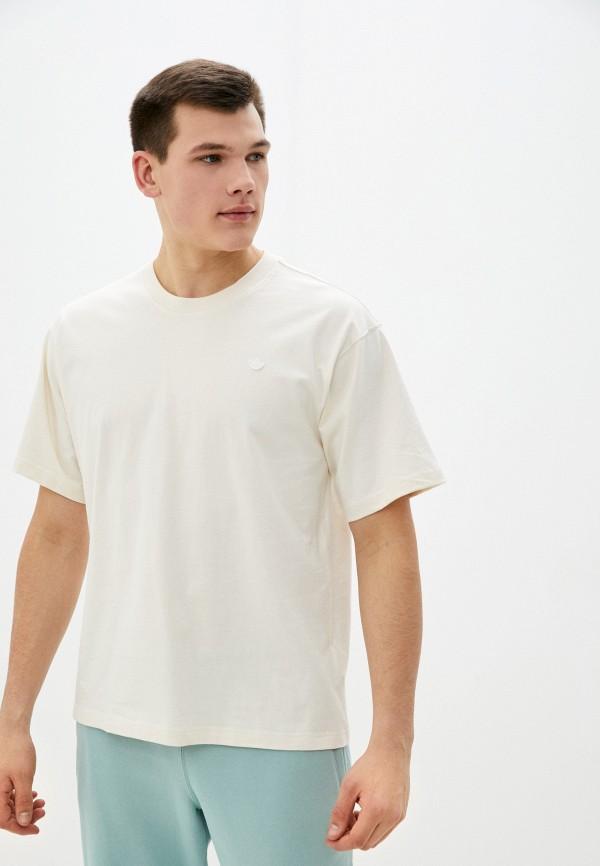 мужская спортивные футболка adidas, бежевая