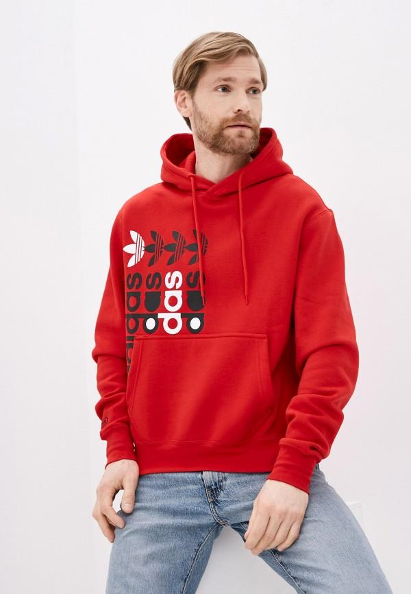 мужские худи adidas, красные