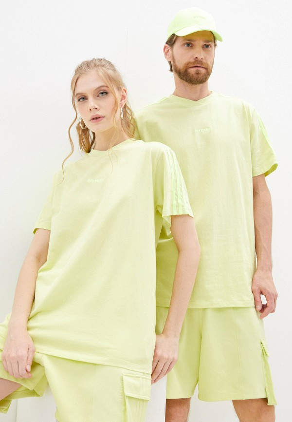 женская спортивные футболка adidas, желтая