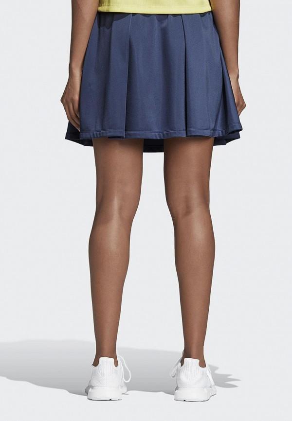 Фото 2 - женскую юбку adidas Originals синего цвета
