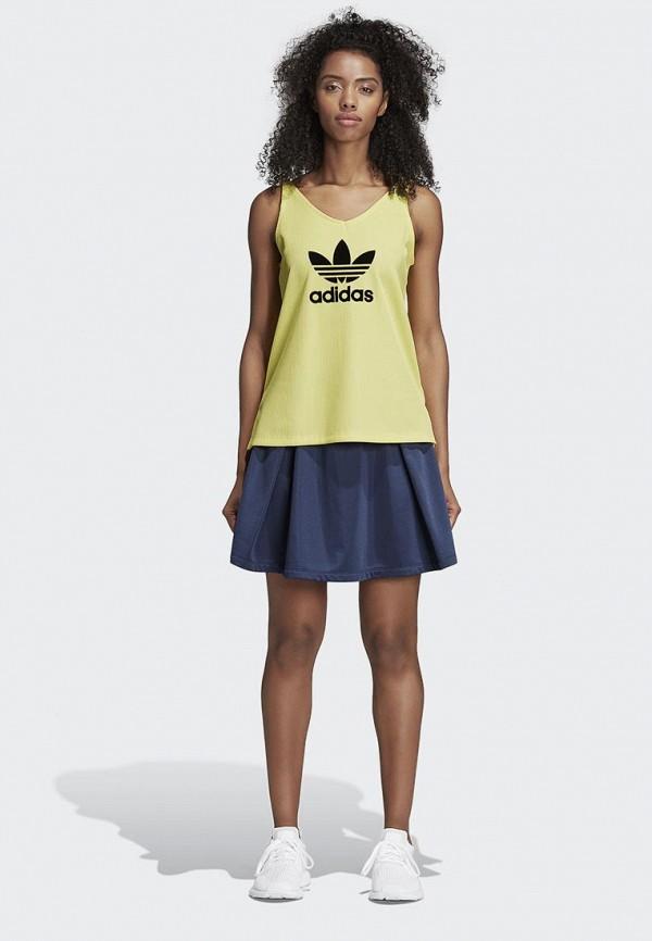 Фото 3 - женскую юбку adidas Originals синего цвета