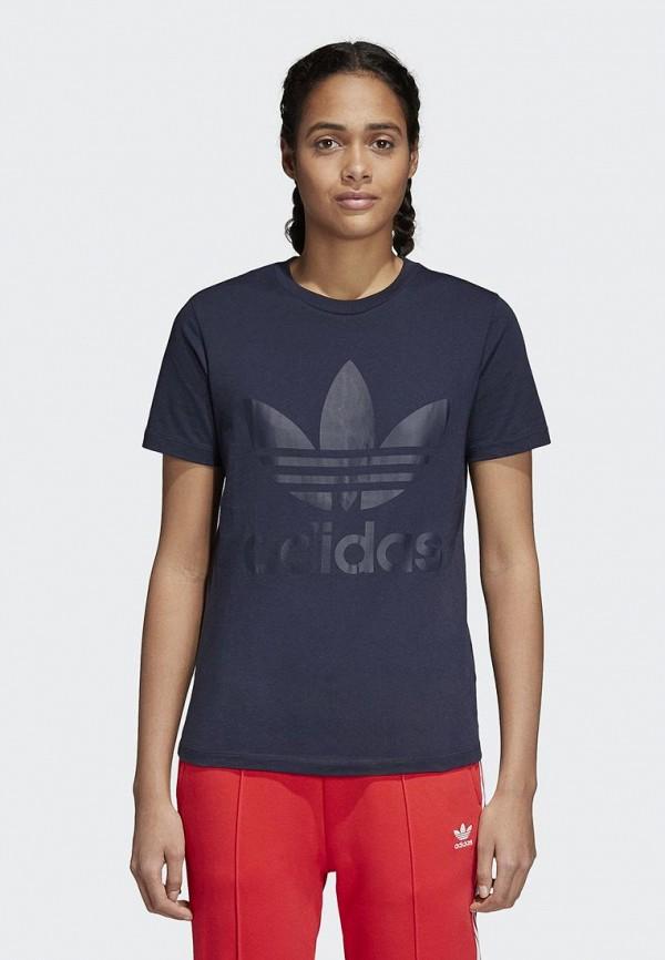 Купить Футболка спортивная adidas Originals, adidas Originals AD093EWALOT6, синий, Весна-лето 2018