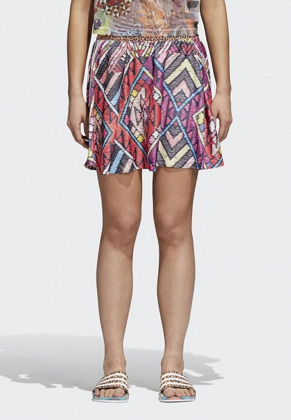 женская юбка adidas, разноцветная