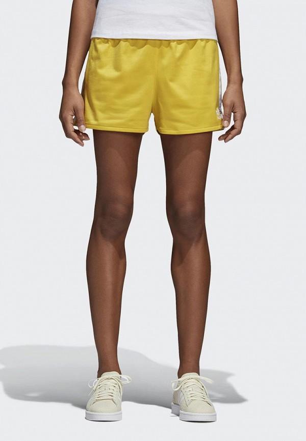 Купить Шорты спортивные adidas Originals, adidas Originals AD093EWALPC8, желтый, Весна-лето 2018