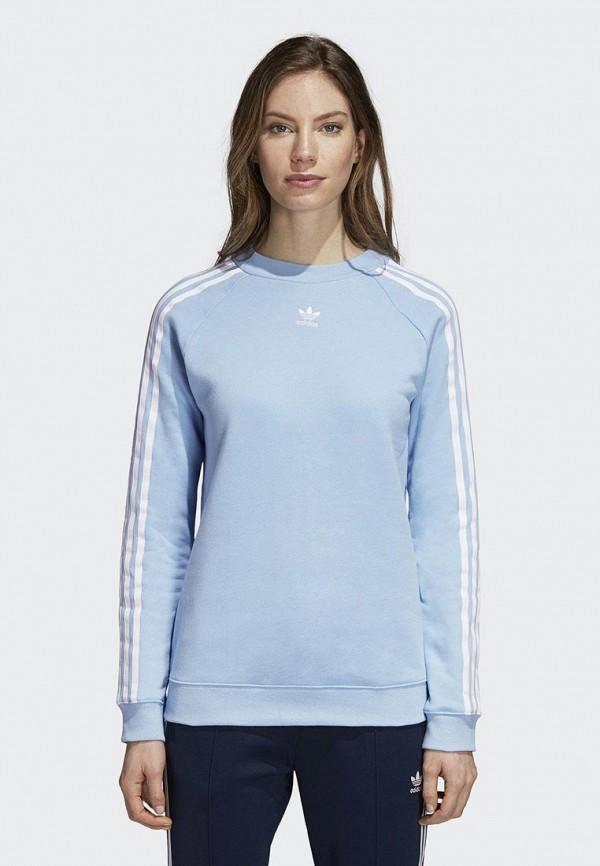 Купить Свитшот adidas Originals, adidas Originals AD093EWCCZF9, голубой, Осень-зима 2018/2019
