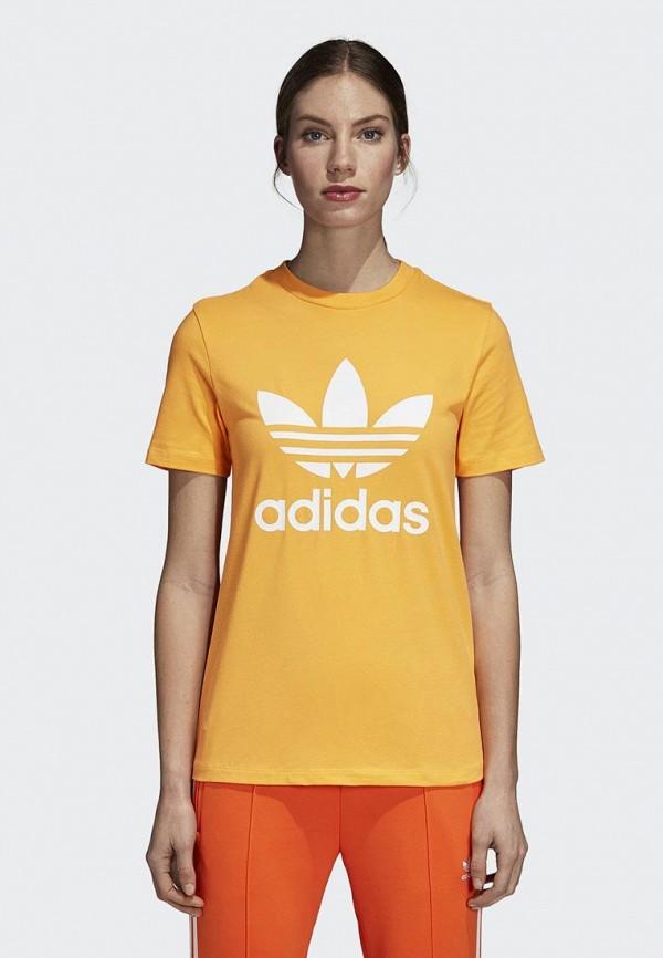 Купить Футболка adidas Originals, adidas Originals AD093EWCCZI2, желтый, Осень-зима 2018/2019