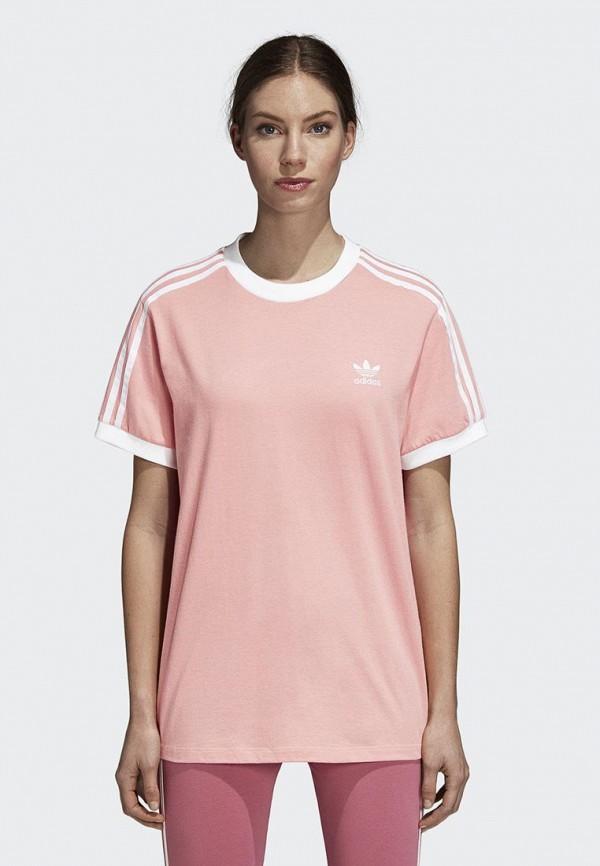 Купить Футболка adidas Originals, adidas Originals AD093EWCCZI3, розовый, Осень-зима 2018/2019