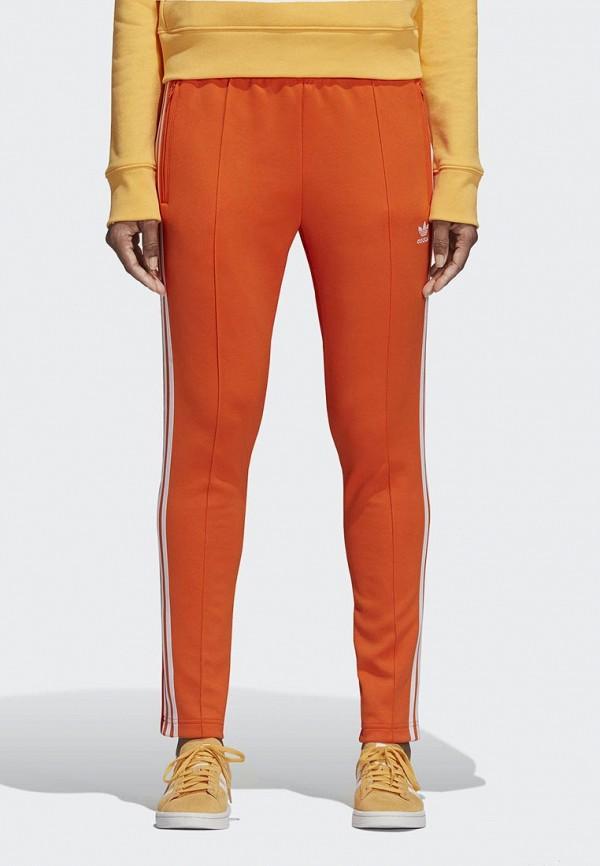 Купить Брюки спортивные adidas Originals, adidas Originals AD093EWCCZJ4, оранжевый, Осень-зима 2018/2019